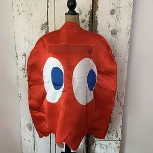 Red Pacman Blinky Arcade Ghost Costume Cosplay